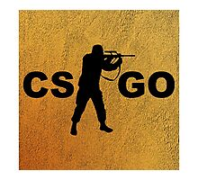 Re-imagined Counter-Strike: Global Offensive Logo Photographic Print