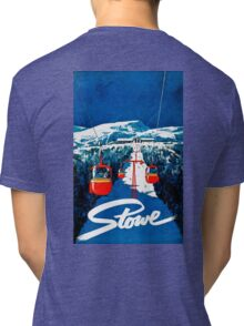 Vintage winter wonderland gondola winter sport snow ski Tri-blend T-Shirt