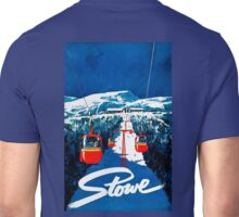 Vintage winter wonderland gondola winter sport snow ski Unisex T-Shirt