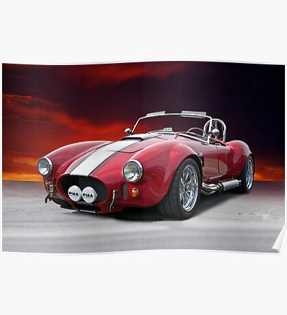 1965 Shelby Cobra 'Fire in the Sky' I Poster