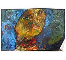 Blue Woman Poster