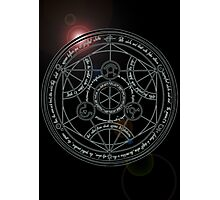 Fullmetal Alchemist transmutation circle Photographic Print