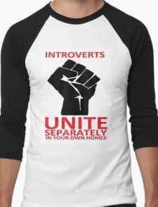 introvert Men's Baseball ¾ T-Shirt