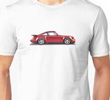 Porsche 911 Turbo (965) (red) Unisex T-Shirt