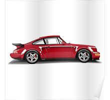 Porsche 911 Turbo (965) (red) Poster