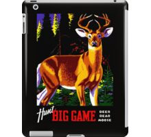 """""""HUNTING"""" Vintage Deer, Elk, Bear, Moose Print iPad Case/Skin"""