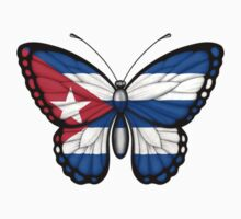 Cuban Flag Butterfly Kids Clothes