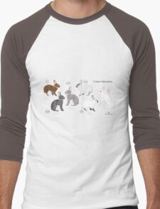 Rabbit Colour Genetics - Saturation Gene Men's Baseball ¾ T-Shirt