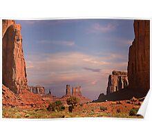 Monument Valley - Mars-like terrain Poster