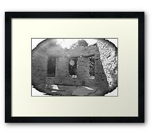 Mansion Apple Orchard - black and white Framed Print