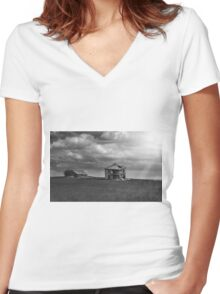 Doll House - BW Women's Fitted V-Neck T-Shirt