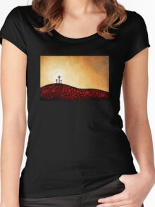 Forgiven - Christian Art By Sharon Cummings Women's Fitted Scoop T-Shirt