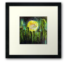 Sin City Lights Framed Print