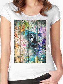 Artistic I - Albert Einstein Women's Fitted Scoop T-Shirt
