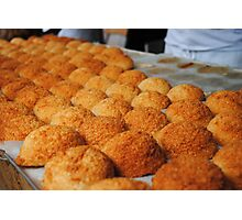 French coconut Macaroons on Market day Photographic Print