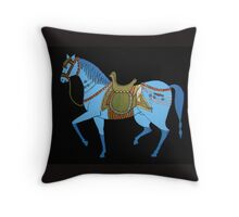 Mughal Horse Pillow and Tote Bag Throw Pillow