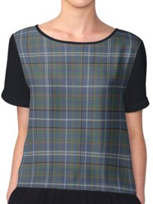 02797 Buncombe County, North Carolina Fashion Tartan  Chiffon Top