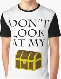 Don't look at my chest Graphic T-Shirt