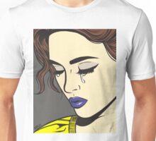 Brunette Crying Comic Girl Unisex T-Shirt