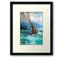 Tempest after Ivan Aivazovsky Framed Print