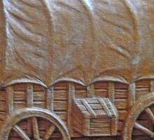 Old Covered Wagon Dresser Sticker