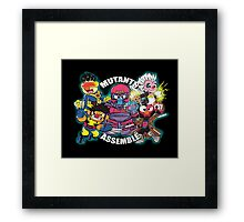 Mutants Assemble  Framed Print