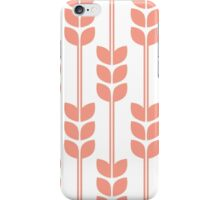 Wheat - Coral on White iPhone Case/Skin