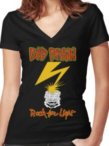 Bad Brains Rock For Light Women's Fitted V-Neck T-Shirt