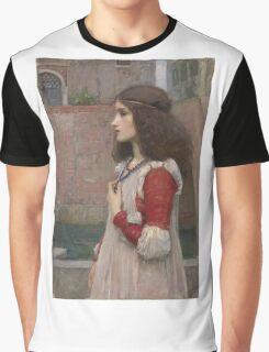 John William Waterhouse - Juliet. Woman portrait: sensual woman, girly art, female style, pretty women, femine, beautiful dress, cute, creativity, love, sexy  Graphic T-Shirt