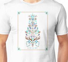 La Vie & La Mort – Turquoise and Brown Unisex T-Shirt