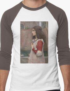 John William Waterhouse - Juliet. Woman portrait: sensual woman, girly art, female style, pretty women, femine, beautiful dress, cute, creativity, love, sexy  Men's Baseball ¾ T-Shirt
