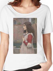 John William Waterhouse - Juliet. Woman portrait: sensual woman, girly art, female style, pretty women, femine, beautiful dress, cute, creativity, love, sexy  Women's Relaxed Fit T-Shirt