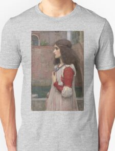 John William Waterhouse - Juliet. Woman portrait: sensual woman, girly art, female style, pretty women, femine, beautiful dress, cute, creativity, love, sexy  Unisex T-Shirt