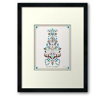 La Vie & La Mort – Turquoise and Brown Framed Print