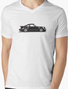 Porsche 911 Turbo (965) (black) Mens V-Neck T-Shirt