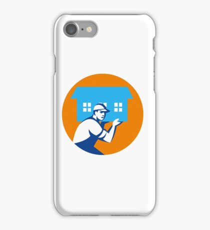 House Remover Carrying House Circle Retro iPhone Case/Skin