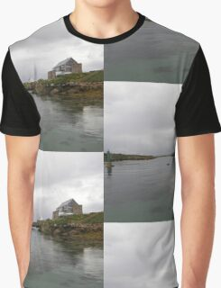 Blue Boat - Rutland Island - Donegal -  Ireland Graphic T-Shirt