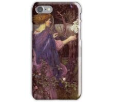 John William Waterhouse - The Annunciation. Woman portrait: sensual woman, girly art, female style, pretty women, femine, beautiful dress, cute,  love iPhone Case/Skin