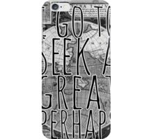 John Green -- Great Perhaps 001 iPhone Case/Skin