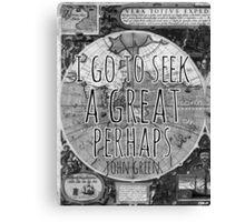 John Green -- Great Perhaps 002 Canvas Print
