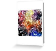Abstract Outer Space Vivid Colors Design Greeting Card