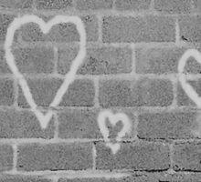 Hearts On Wall Sticker