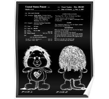 Brave Heart Lion Patent - Black Poster
