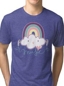 I Love Music Doodle Tri-blend T-Shirt