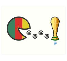 Cameroon World Cup 2014 Art Print