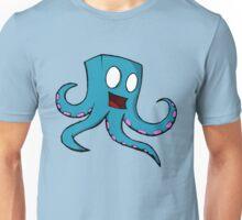 Happy Cube Headed Octopus Unisex T-Shirt