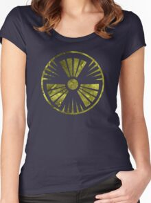 MUTO Radioactive Zone; Nuclear - Yellow Grunge Women's Fitted Scoop T-Shirt