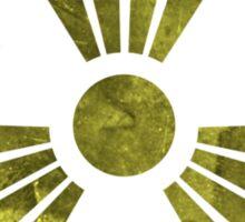MUTO Radioactive Zone; Nuclear - Yellow Grunge Sticker