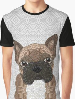Brown Frenchie Puppy 001 Graphic T-Shirt