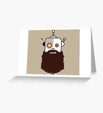 Hipster Bot Greeting Card